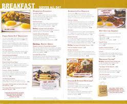Bob Evans Light Breakfast Menu Bob Evans Printable Menu That Are Universal Charless Website