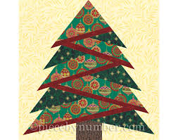 Pine Tree quilt block pattern paper piecing quilt pattern & 🔎zoom Adamdwight.com