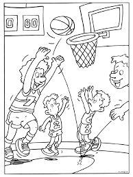 Kleurplaat Basketballen Doelpunt Kleurplatennl
