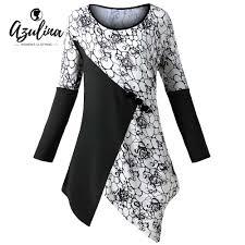 Panel Shirt Design Ladies Azulina Women T Shirt Plus Size 5xl Color Block Buttons