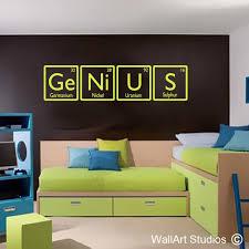 genius science wall art decal