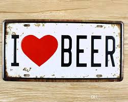 metal tin signs i love beer wall art craft iron retro metal painting tin signs 15x30cm plaques mural xd 1250 wall pictures wall art metal poster metal sign