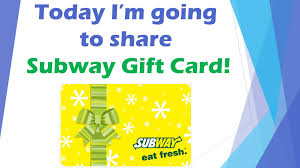 get subway gift card
