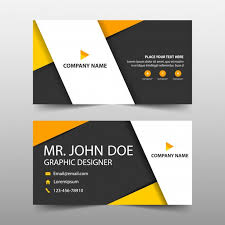 Buiness Card Orange Corporate Business Card Template Vector Free Download