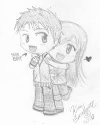 cute anime love chibi drawing. Anime Love Drawing Pictures With Cute Chibi