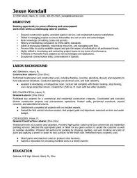 General Skills To Put On Resume Endearing General Labor Resume