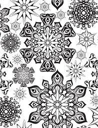 Coloriage Imprimer Flocons Premi Re Neige Artherapie Ca