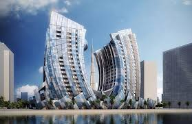 twin towers launched along dubai c