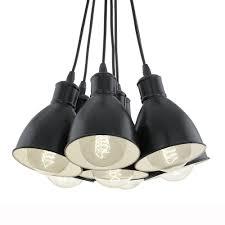drop lighting. Priddy 1 Seven Drop Cluster Pendant Light In Black Lighting S