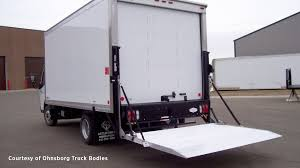 tommy gate railgate series standard liftgate for straight truck standard railgate in the down position