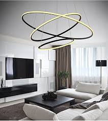 modern simple design mini pendant living led ring chandelier ceiling light for garage game room study room office dining room bedroom living room