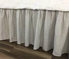 Light Grey Bed Skirt Full Amazon Com Stone Grey Linen Bed Skirt Light Grey Bed Skirt