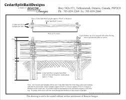 farm fence drawing. Northern White Cedar Split Rail Fence Installation Instructions Straight Farm Drawing