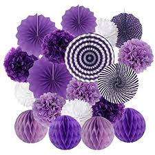 Hanging Paper Flower Balls Amazon Com Chenway Tissue Hanging Paper Pom Poms Tissue Pom