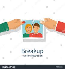Break Up Crisis Relationship Divorce Man Stock Vector 667034527