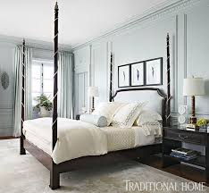 A stately four-poster bed with a quilted headboard anchors the room. -  Photo: Werner Straube / Design: Lori Lennon -- four poster concept.