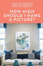 how high to hang pictures the