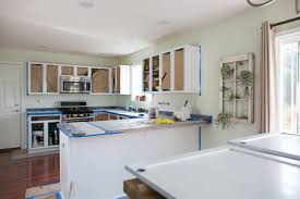 average cost to paint kitchen cabinets. (Image Credit: Diana Liang ) Average Cost To Paint Kitchen Cabinets T