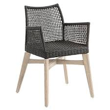 rubina outdoor dining armchair dark grey