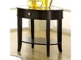 walnut end table. Silver Mist Dark Walnut End Table