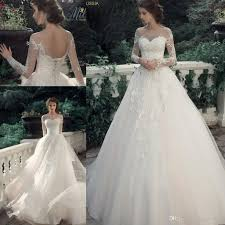 discount milva bridal vintage lace modern princess wedding dresses