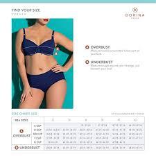 Dorina Plus Size Womens Padded Bikini Top With Wire
