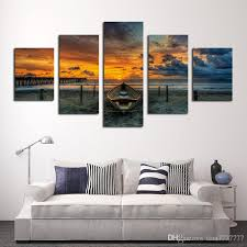 unframed large hd seascape with ship painting top rated canvas print painting for living room wall art picture gift decoration home seascape painting home