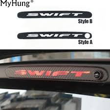 Car Brake Light Stickers Us 3 07 11 Off Additional Brake Light Sticker Decorative Carbon Fiber High Mount Stop Lamp Cover Special Designed For Suzuki Swift Car Styling In