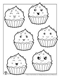How to draw a cute cupcake monster folding surprise. Cute Cupcake Coloring Sheet Woo Jr Kids Activities