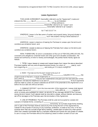 lease contract template professional blank lease agreement template sample with editable