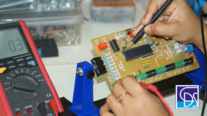 Electronic Prototype Design Testing Of Put Through Hole Pcb After Component Assembly