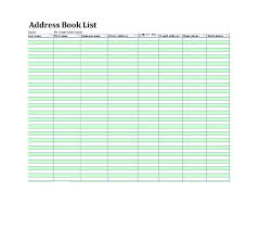 Address Book Template Excel 40 Printable Editable Address Book Templates 101 Free