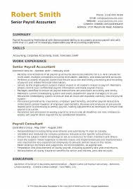 Payroll Resume Cool Payroll Accountant Resume Samples QwikResume