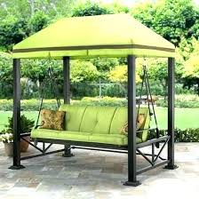 outdoor patio swings with canopy lawn swing covered garden wooden replaceme