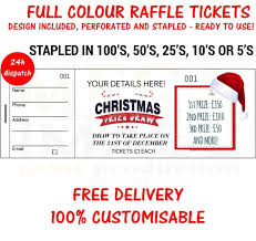 Prize Draw Tickets 1000 Printed Personalised Raffle Prize Draw Tickets Ebay