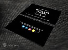 Modern Serious Marketing Business Card Design For Social