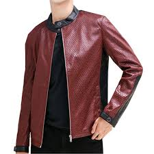 red mens pu leather jackets teen fashion casual coats male autumn bester jacket men s 3xl clothing