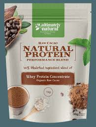 best tasting raw organic natural protein powders in ultimately natural organic cacao natural whey protein powder
