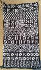 Sanquhar Pattern Sampler To Be Made Into A Cowl By Wendy Of