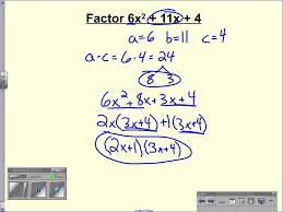 8 4 factoring quadratic trinomials leading coefficient isn t 1 wmv you