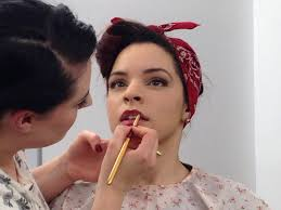 history and tutorial 40s makeup