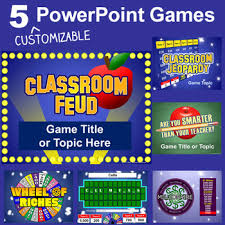 Powerpoint Game Show Template Powerpoint Games Pack 5 Customizable Tv Game Show Templates Tpt