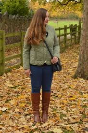 Tan Knee High Boots Outfit And A Giveaway - JacquardFlower & Joules Collarless quilted jacket Adamdwight.com