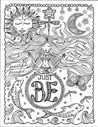 Motivational Coloring Pages Stress Relief Simple