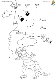 Download French Worksheets for Kids | Dino Lingo Blog