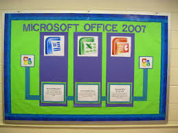 computer lab bulletin board ideas connecting the bots lcd display notice ms office thumbnail bulletin board ideas office