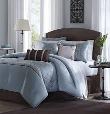 madison park brussel 7 piece comforter set king blue