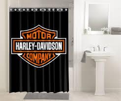 harley davidson motor cycles logo 3630 shower curtain waterproof bathroom decor