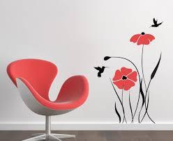 vinyl wall art poppies