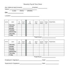 Sheet Time 15 Employee Time Sheet Pdf Sample Paystub